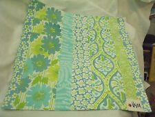 "VERA ""Cottage Quilt"" Placemats - Set of 3, Aqua/Lime/White, Reversible NWTs"