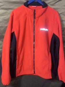 HILTI Power Tools Full Zip Jacket Red Size 2XL Sweater Lining Reflector Logo