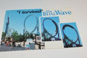 Marriott's Great America Postcard 1976 Mike Roberts B8117 The Tidal Wave