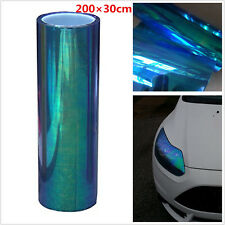 Chameleon Colorful Blue Car Headlight Tail Lamp Wrap Film Vinyl Tint 200x30cm
