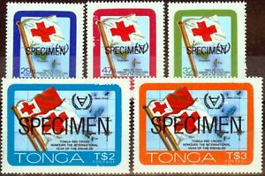 Tonga 1981 Disabled Persons Specimen set of 5 SG780s-784s Fine MNH