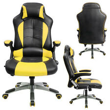 Yellow Gaming Chair High-back Computer Chair Ergonomic Design Racing Chair RC1