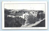 Los Angeles, CA Postcard - HOLLYWOOD HOTEL razed in 1956. Hollywood Blvd