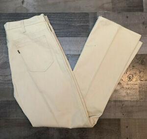 Vtg USA Made Levis Sta Prest Pants Tag 36x34 Polyester Khaki Dress