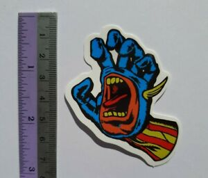 2xSanta Cruz Screaming Hand Skateboard Sticker Vinyl Phone Laptop Notebook Decal