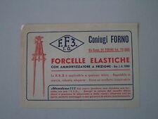 - VOLANTINO PUBBLICITARIO FORCELLE FF3 CONIUGI FORNO TORINO - ANNI 40/50