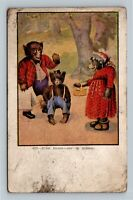 "BUSY BEARS Postcard ""Off To School"" J.L. Austen Co. Vintage c1910 Postcard"