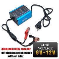 12V 10A LED Display Smart Fast Lead-acid/GEL Battery Charger Car Motorcycle MASO