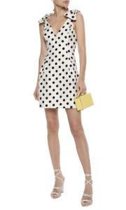 ZIMMERMANN | Sz 0 Aus 8 | Corsage Tie Dress | White with Black Dots