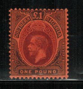Southern Nigeria #56 Wmk.3 1912 MLH