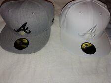 Authentic New Era Atlanta Braves 59Fifty Size 8 Cap Hat Lot Excellent Condition