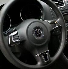 VW volkswagen golf 6 vi volante cegar cubierta clip Cromo Plata mk5 mk6 Polo