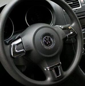 Lenkradblenden für VW Volkswagen Golf 6 VI Abdeckung Clip Tiguan Polo Chrom