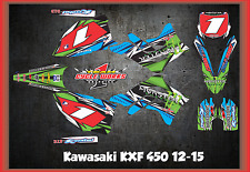 Kawasaki KXF450 12-15 KX 450F CUSTOM MADE RETRO GRAPHIC KITS DECAL TORQ!