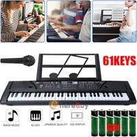 61-Key Digital Music Piano Keyboard - Electronic Musical Instrument +Music Stand