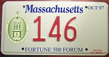 1997 MASSACHUSETTS FORTUNE 500 MEETING LICENSE PLATE RICH COMPANY SPECIAL EVENT