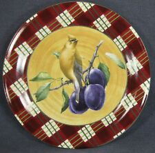 Lenox Winter Greetings Tartan Cedar Waxwing Dinner Plate Catherine McClung