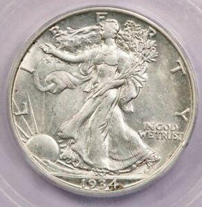 1934-P 1934 Walking Liberty Half Dollar ICG AU58