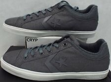 New Mens 12 Converse Star Player Street OX Wizard Gray Canvas Shoes 146647C $55