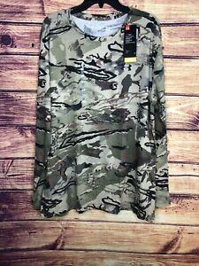 Under Armour Men's UA Scent Control Forest Camo Long Sleeve 1343241 999 Sz 2XL