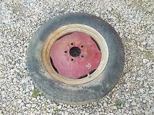 """Cockshutt 30 Coop E3 tractor front 15"""" rim & tire to hub"""