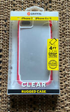 Griffin Clear Rugged Phone Case for Iphone 8 7 6 6S Clear Pink Brand New -A3
