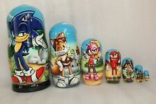 Exclusive 7 in 1 Russian Russia Nesting Dolls - Sonic the Hedgehog