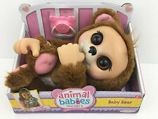 Animal Babies Nursery Baby Bear Plush Doll Soft Figure Diaper Pacifier Accessory
