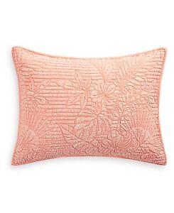 Martha Stewart Collection Botanical 100% Cotton Pillow Sham - STANDARD - Coral