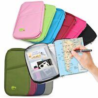 Travel Passport Credit ID Card Cash Wallet Purse Holder Case Document Bag