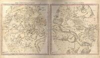 MAP SPACE ASTRONOMY BURRITT 1856 WINTER CONSTELLATION REPRO POSTER PRINT PAM1210
