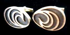 Vtg 1950s Harold FITHIAN Sterling Egg shaped Cufflinks Modernist Studio Featured