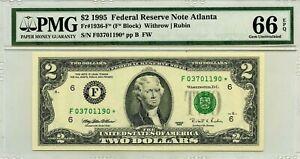 $2 DOLLARS 1995 STAR NOTE ATLANTA F 1936 F * LUCKY MONEY VALUE  $360