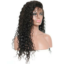 Brazilian Women Human Hair Deep Wavy-Curly Lace Front Full Wig With Baby Hair