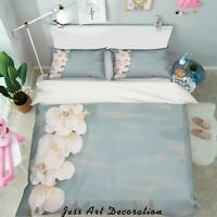 3D Magnolia Simple Blue Quilt Cover Duvet Cover Comforter Cover Single/Queen 8