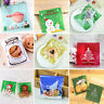 100Pcs Christmas Cellophane Kids Favour Sweet Candy Cookies Party Gift Bags