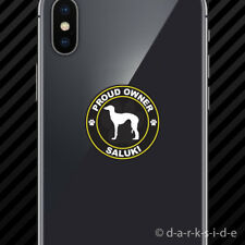(2x) Proud Owner Saluki Cell Phone Sticker Mobile dog canine pet