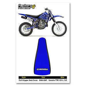 2000-2007 YAMAHA TTR 125 L-LE Black/Blue GRIPPER SEAT COVER BY Enjoy Mfg