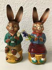 Candybox Osterhase Paar *sehr Alt! Pappmache 25 cm* zum befülllen //Süßigkeiten