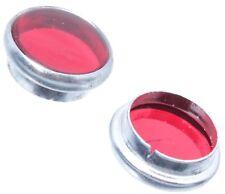 2x Rot Glass Lampe Kontrollleuchte passt für Simson AWO BMW EMW IFA MZ DKW URAL