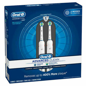 NEW Sealed!  2 pack ORAL-B Advanced Clean Pressure Sensor Electric Toothbrushes