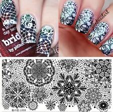 BORN PRETTY 12*6cm Rectangle Nail Art Stamping Image Plate Lace Snowflake L008