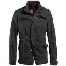 Abrigos y chaquetas de hombre parka negras 100% algodón