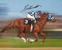 RON TURCOTTE Signed 8 1/2 x 11 Photo Signed REPRINT Horse Racing SECRETARIAT