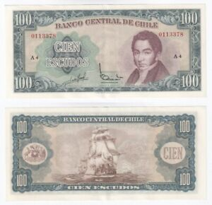 CHILE 100 Escudos Banknote (1962) P.141a - EF/aUNC.