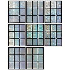 BMC Holographic Manicure Nail Art Guide Sticker Bundle Set-10 Pattern/8 Sheets