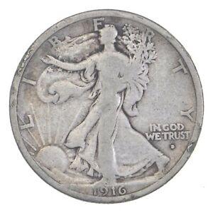 Better Date 1916-D Walking Liberty 90% Silver US Half Dollar *333