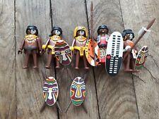 Guerrier de la Tribu Indienne Indigène Temple 3040 P426 PLAYMOBIL INDIGENES