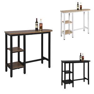 eSituro Table de Bar Table de bistrot en MDF et métal Table de Salle à Manger