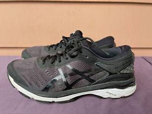 ASICS GEL KAYANO 24 T749N Men US 9 Black White Athletic Running Shoes D6